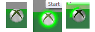 Custom start button when inactive, when hovered over and when pressed